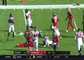 Ricardo Allen outmaneuvers WR to intercept Jameis Winston's pass