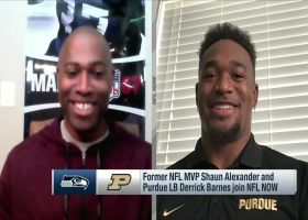Derrick Barnes on what it's like to look up to cousin Shaun Alexander