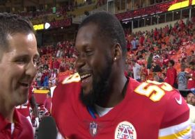 Kansas City Chiefs linebacker Reggie Ragland sings Aretha Franklin song during interview