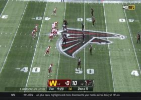 Heinicke pinpoints McLaurin over middle for 21 yards
