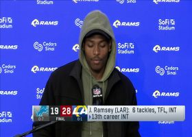 Jalen Ramsey reacts to Rams' performance against Jared Goff
