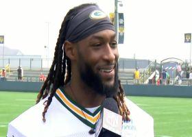 Aaron Jones describes having Aaron Rodgers back at Packers camp