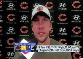 Nick Foles is fired up after Bears' Week 6 win over Panthers