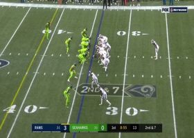 Goff's flat-footed laser results in 22-yard gain to Everett