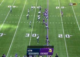 Alexander Mattison blows by Jamal Adams on 23-yard catch and run