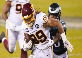 Chase Young scoops Eagles' mishandled snap for key fumble recovery