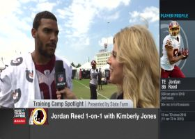 Washington Redskins tight end Jordan Reed talks about the quarterback battle at Redskins camp