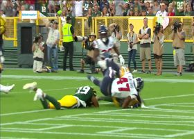 St. Brown dives on ball in end zone after botched punt return