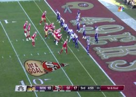 Niners' EIGHT straight run plays end in Tevin Coleman's second TD