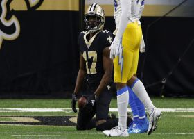 Brees' dart to Sanders dissects defenders to put Saints on 1-yard line