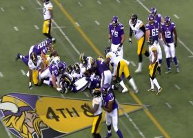Steelers cause a Vikings turnover on downs