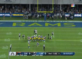 Zierlein's field goal kick sails right over top of upright