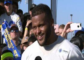 Aaron Donald showered with MVP chants, talks Rams defense entering '21