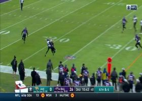 Keelan Cole makes incredible toe-drag catch to covert on fourth down