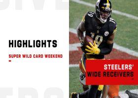 Best plays by Steelers WRs vs. Browns | Super Wild Card Weekend
