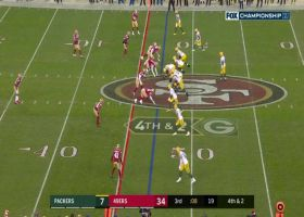 Aaron Rodgers rips fourth-down dart to Allen Lazard to move the chains