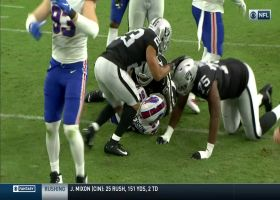 Quinton Jefferson claws ball from Derek Carr for strip-sack and recovery