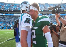 Darnold embraces former teammates after Panthers' win over Jets