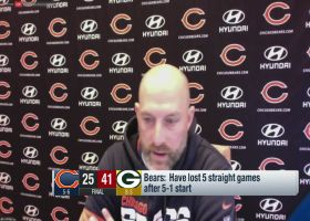 Matt Nagy gives passionate plea for Bears to have 'sense of urgency'
