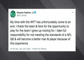 Dwayne Haskins addresses his Washington release via Twitter