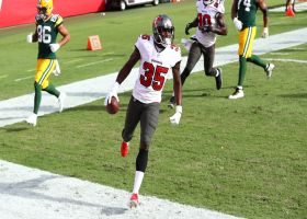 Jamel Dean runs back Rodgers' first INT of '20 for pick-six