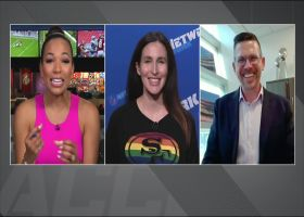 Hannah Gordon, Joey Colby-Begovich, MJ Acosta-Ruiz on impact of Nassib coming out