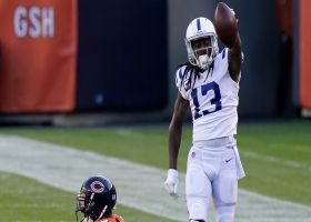 T.Y. Hilton high-points pass in front of Eddie Jackson for strong 13-yard grab