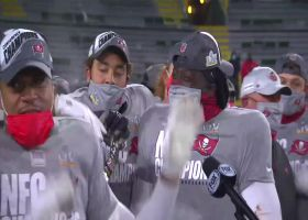 Buccaneers hold up George Halas Trophy after NFC championship win