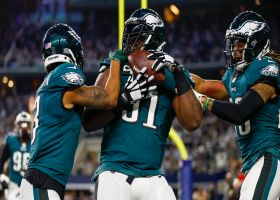Eagles party in the end zone after scoring TD on strip-sack of Prescott
