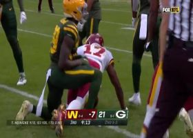 Terry McLaurin shrugs off tackle on 28-yard gain