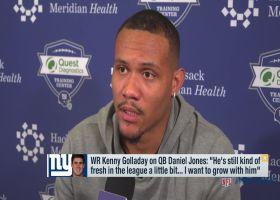 Kenny Golladay on Daniel Jones: 'I want to grow with him'