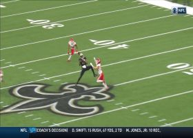 Drew Brees locates Jared Cook at midfield logo for 21-yard gain