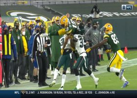 Equanimeous St. Brown's sideline hurdle dazzles
