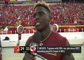 Tyreek Hill: 'I almost threw up a peace sign' on 75-yard TD vs. Browns