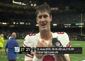 Daniel Jones: Giants offensive line was 'phenomenal' vs. Saints