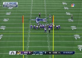 Brett Maher's 57-yard FG try misses wide left