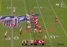Patrick Mahomes lays up deep strike to Sammy Watkins for 28 yards