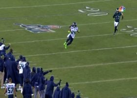 Marshawn Lynch throws DB to the turf with monstrous stiff-arm