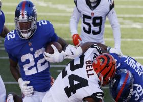 Giants hurry to the line for Gallman's quick fourth-down TD run