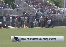 Tennessee Titans wide receiver Corey Davis MOSSES Titans cornerback Adoree' Jackson at Titans camp