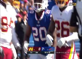 Zack Moss' shifty move turns short catch into 17-yard gain