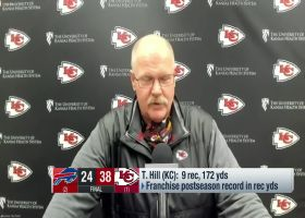 Andy Reid: Tyreek Hill apologized for not scoring on 71-yard catch and run