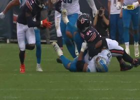 Quinn's strip-sack of former teammate Goff ends in red-zone takeaway