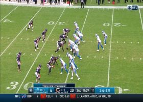 Jeff Driskel avoids pressure and scrambles for first down