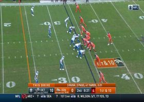 Drew Lock throws 15-yard fastball to Courtland Sutton