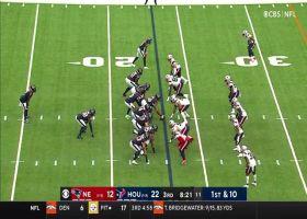 Pharaoh Brown trucks over defender on 15-yard gain