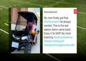 David Bakhtiari gifts Aaron Rodgers a new ride at training camp