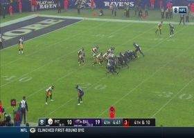 Ravens turn Steelers' botched punt into TD after ball escapes punter in the rain