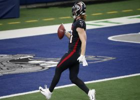Hayden Hurst breaks free for first TD with Falcons