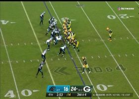 Brian Burns flies into backfield for CLUTCH sack of Aaron Rodgers